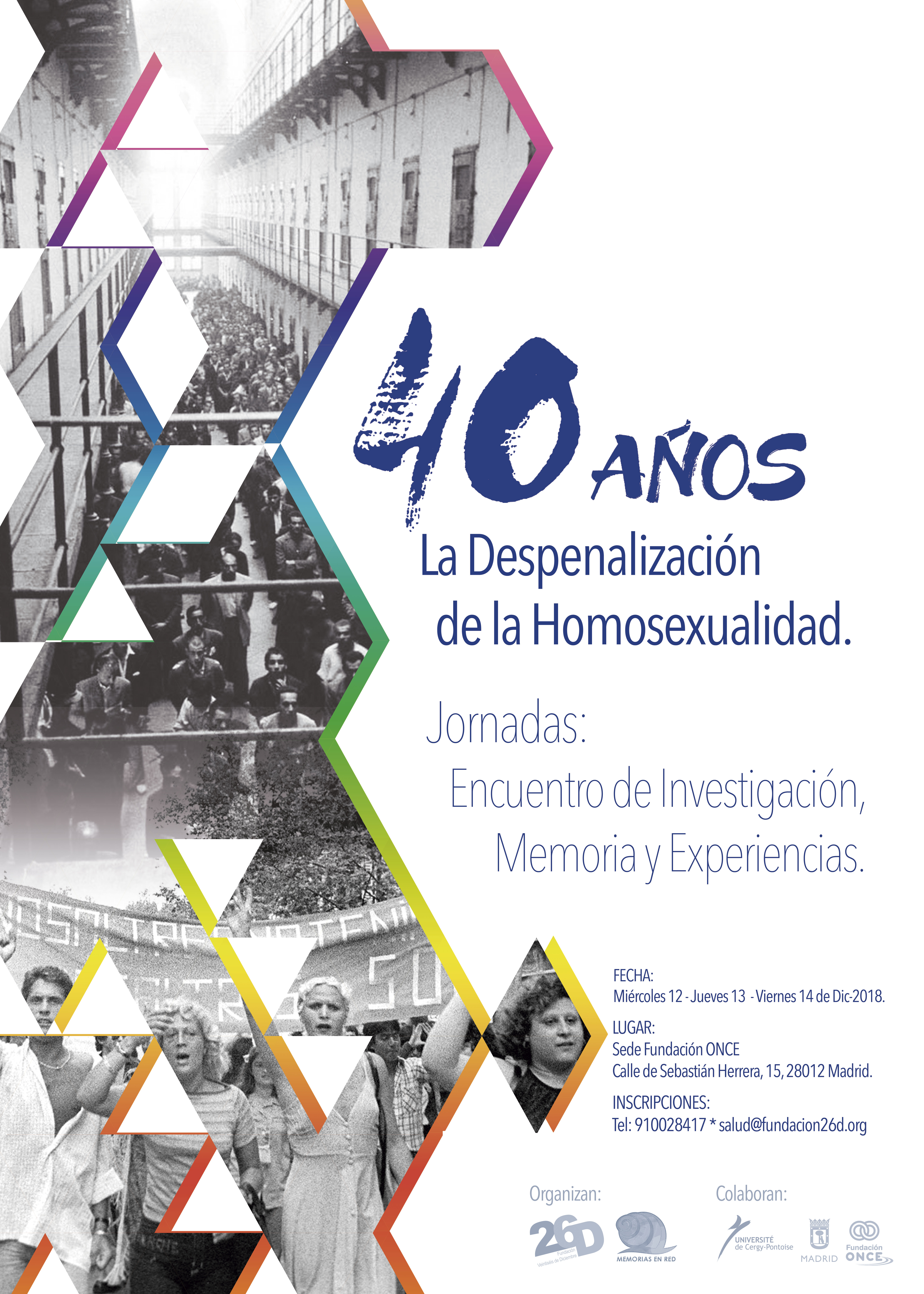 Encuentro: 40 aniversario de la despenalización de la homosexualidad en España, Madrid, 12-14 diciembre de 2018.